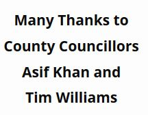 Many thanks to Cllr Asif Khan